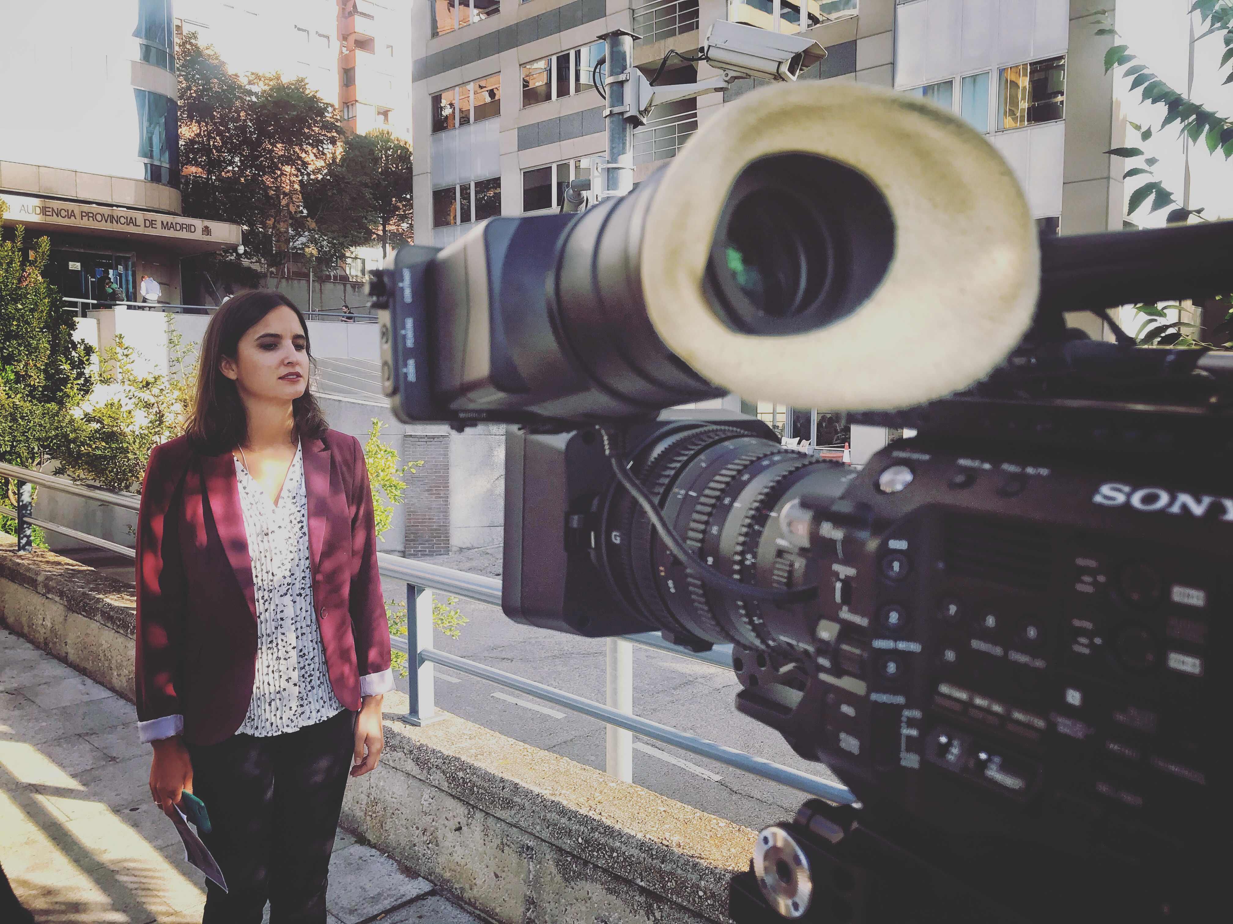 TVE NEWS COVERAGE WITH PORTABLE TRANSMITION
